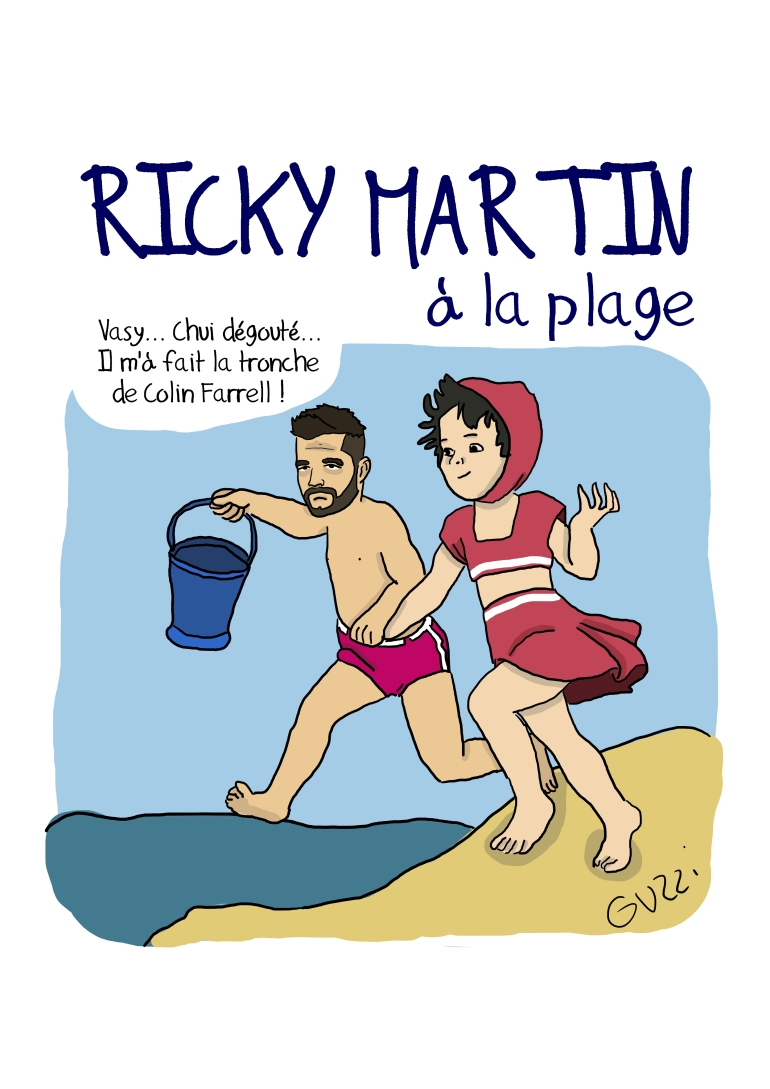 ricky martin a la plage