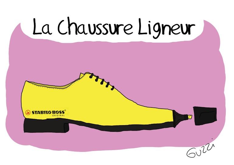 LA chaussure ligneur